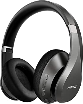 Amazon Com Mpow H20 Upgraded 059 Bluetooth Headphones Over Ear 60 Hours Playtime Wireless Headphones Latest Cvc 8 0 Mic Hi Fi Deep Bass Comfortable Protein Earpads For Travel Online Class Home Office Electronics
