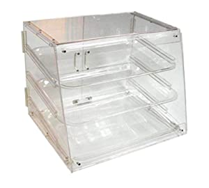 Winco ADC-3 3-Tier Pastry Display Case, Acrylic