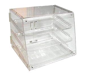 Winco ADC-3 3-Tier Pastry Display Case, Acrylic