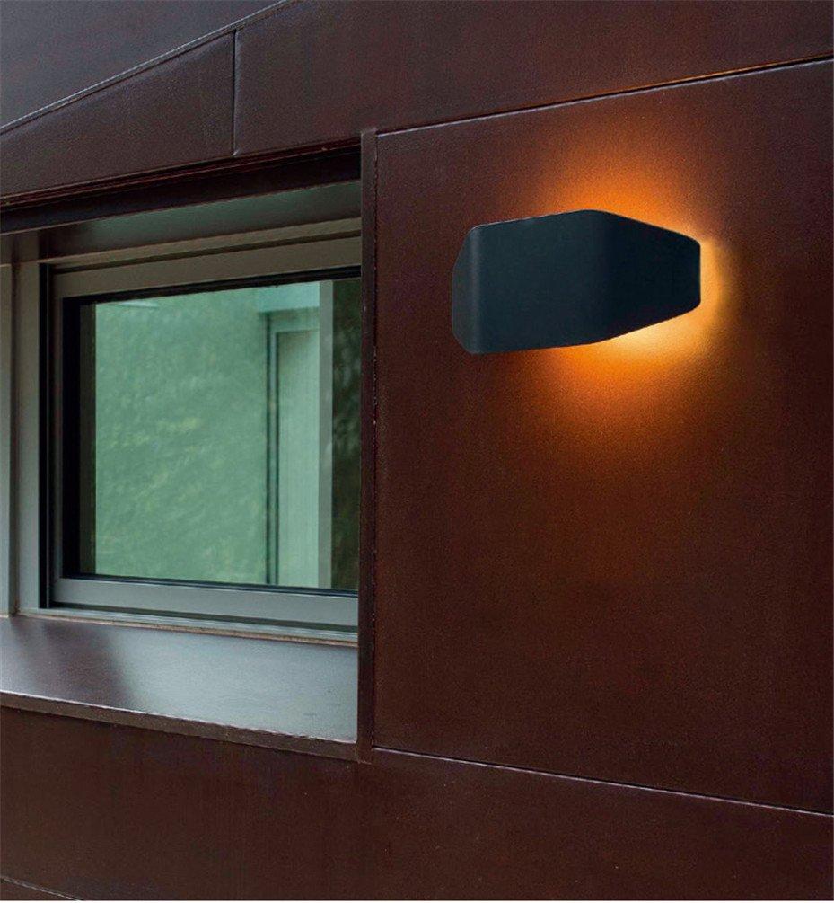 Pouluuo Wasserdichte Lampe der im Freienwandlampe führte Balkontreppenaußenwandlampe Balkontreppenaußenwandlampe Balkontreppenaußenwandlampe Hausnummernlampe im Freien Schwarzes a1d28d