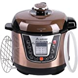 Aobosi Pressure Cooker 3Qt 8-in-1 Electric Multi-cooker, Rice Cooker,Slow Cooker,Perfect for Small Family, Free Steamer Rack,Cookbook and Extra Sealing Ring,Stainless Steel Cooking Pot