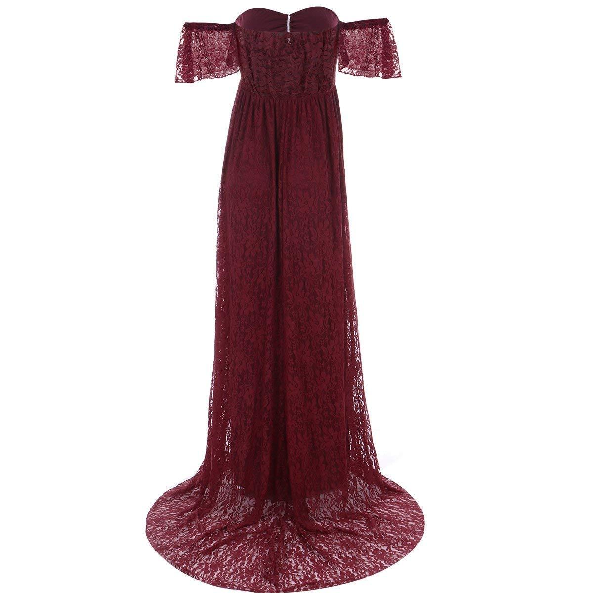 Amazon.com: ZIUMUDY - Vestido de maternidad con hombros ...