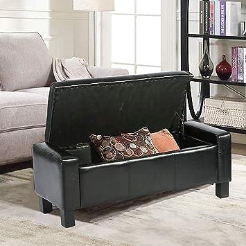Amazon.com: BestMassage Storage Ottoman Bench Bed Bench ...