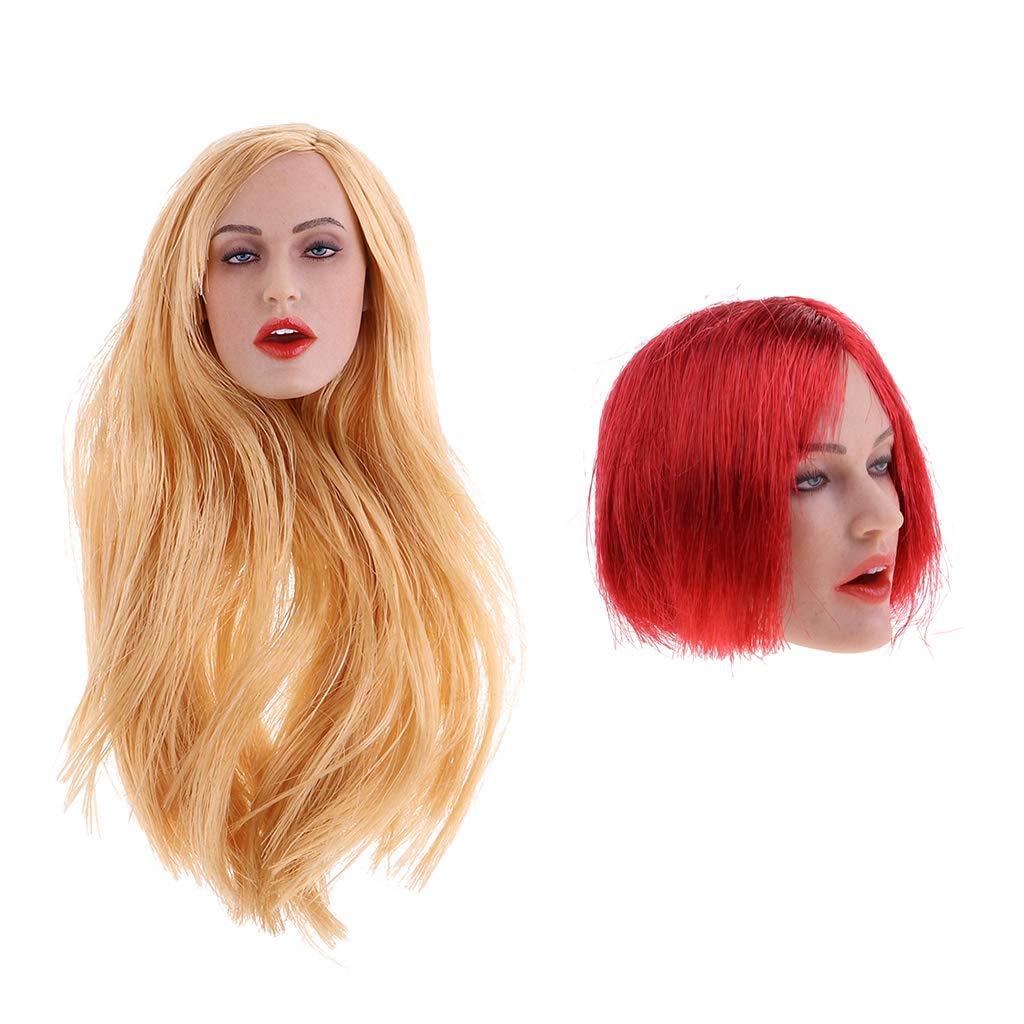 "Envío 100% gratuito Sharplace 2 Piezas 1/6 Lady Female Head Sculpt Sculpt Sculpt GC017 para 12 ""Phicen Action Figure Body  oferta especial"