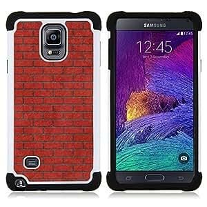 BullDog Case - FOR/Samsung Galaxy Note 4 SM-N910 N910 / - / MEANING MUSIC BRICK RED PINK WALL /- H??brido Heavy Duty caja del tel??fono protector din??mico - silicona suave