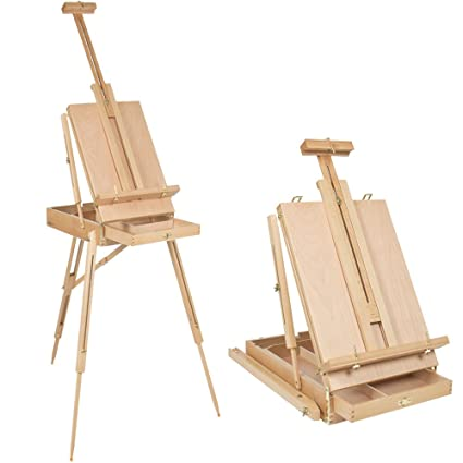 French Wooden Tabletop Easel Stand With Drawer Folding Portable Artist  Painters Sketch Box Durable Tripod,