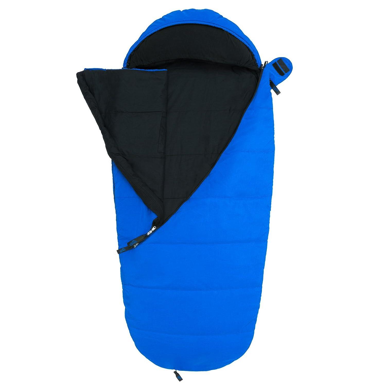 Qeedo Buddy Junior Saco de Dormir Niños Comfort Control, Best Shape & Soft Touch - Azul: Amazon.es: Deportes y aire libre