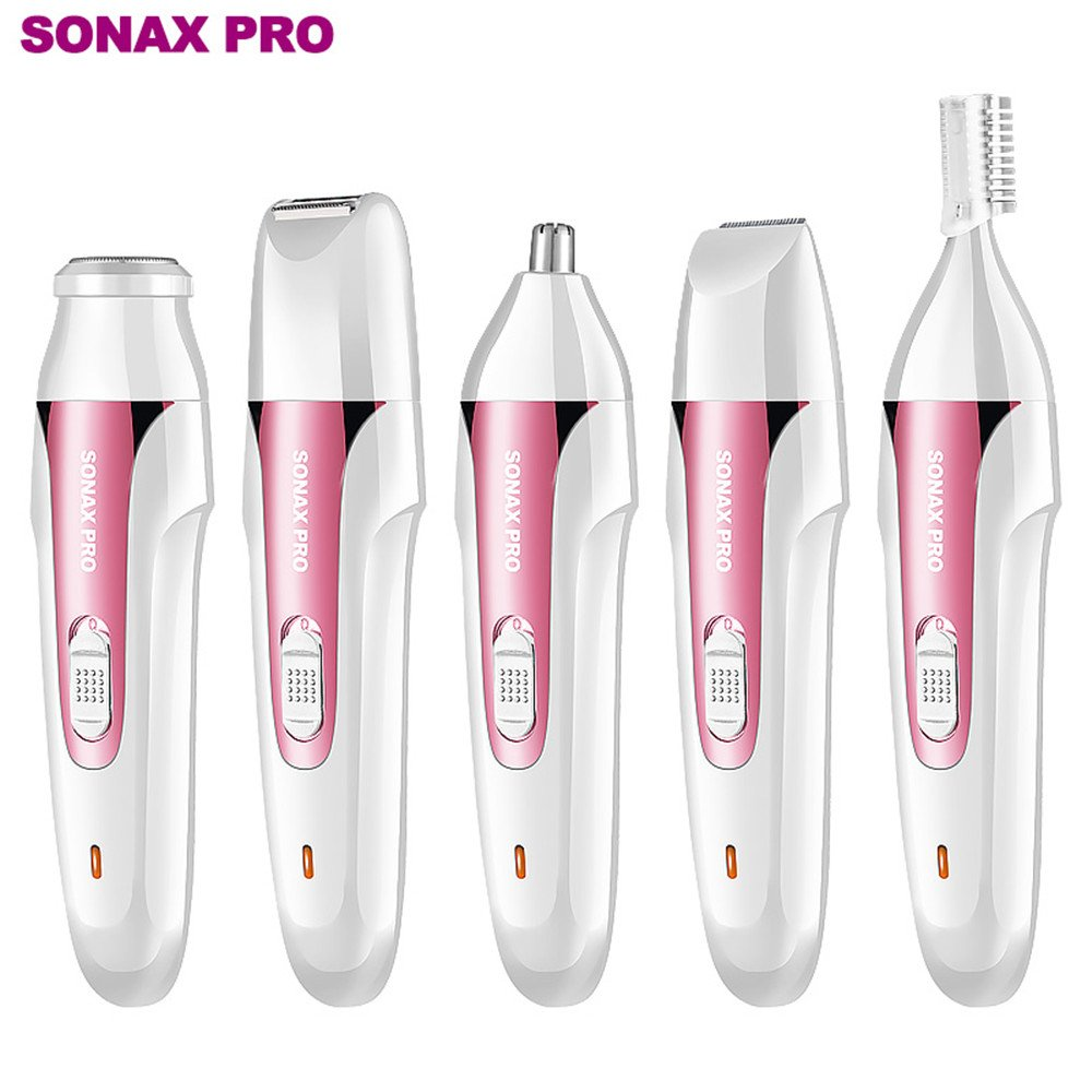 5 in 1 Women's Hair Removal Set, Painless Epilator Cordless Hair Shaver Rechargeable Razor