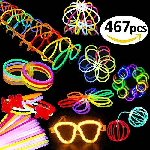 Kit 467 Accesorios Luminosos Barra Conectores Gafas Fiestas Niños Adultos Halloween 12 Horas