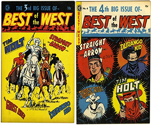 Best of the West. Issues 3 and 4. Straight arrow, Durango Kid, Ghost Rider and Bobby Benson's B-Bar-B Riders. Golden Age Digital Comics Wild West Western.