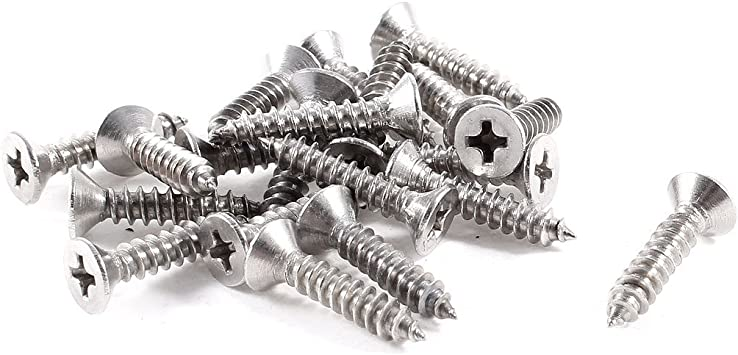 M1.4 x 4mm Stainless Steel Sinking Head Phillips Small Screws