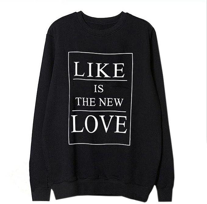 COCO clothing Sudaderas de Mujer Blusas Chica Alfabeto Estampado Top Camisetas Universidad Deportivas Sweatshirt Otoño Pullover