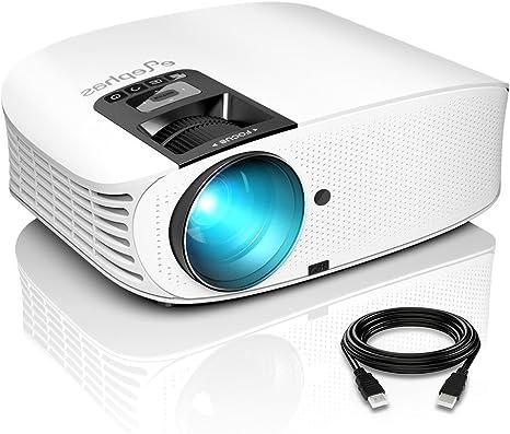 Proyector de vídeo HD, Elephas retroproyector 720P HD 3000 lumens ...