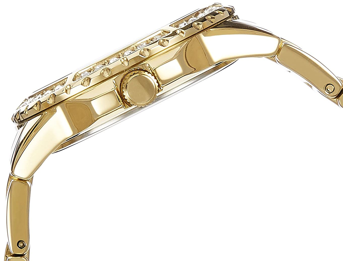 Amazon.com: Guess Womens Quartz Watch with Gold Dial Analogue Display and Gold Stainless Steel Bracelet W0705L2: GUESS: Watches