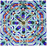 3dRose dc_73581_1 Morocco, Hassan II Mosque Mosaic, Islamic Tile Detail-AF29 KWI0019-Kymri Wilt-Desk Clock, 6 by 6-Inch