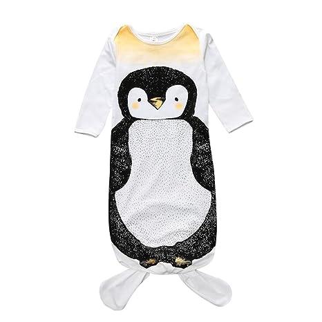 Dorapocket - Saco de dormir para recién nacido, diseño de gato de noche pingüino Talla
