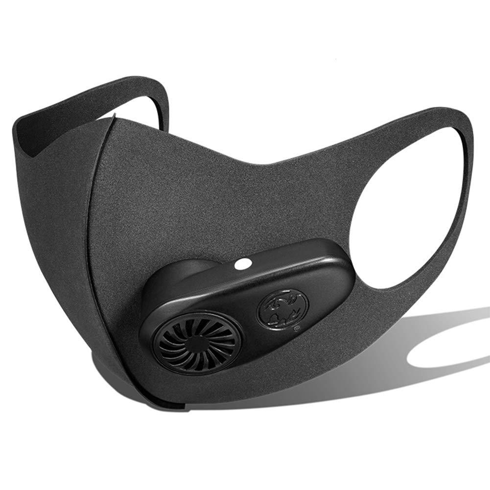 TZTED Verschmutzung Maske Staub Atemschutzmaske Intelligentes Atemventil PM2.5 Staubdichte Elektronische Staubmaske Elektrische Anti-Fog-Maske