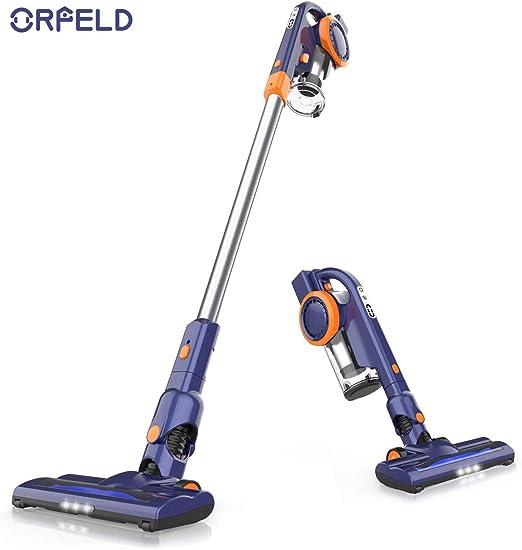 Orfeld - Aspirador de escoba inalámbrico, 2 en 1, potente ...