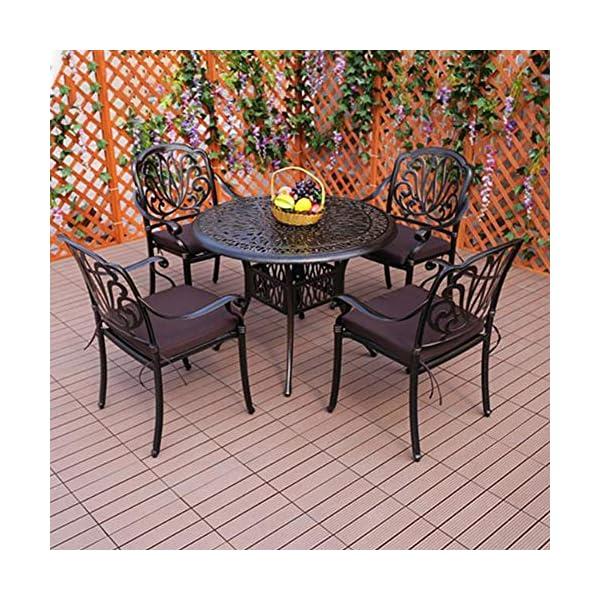smzzz Tavolo e Sedie da Giardino Balcone Set 5 pz Mobili da Giardino Set da Pranzo Giardino Esterno,Tavolo da Giardino… 2 spesavip