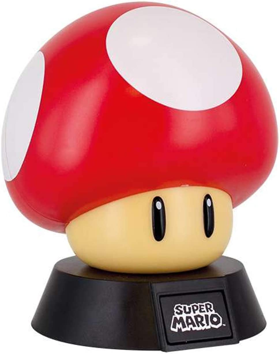 Super Mario Bros Mushroom 3d Night Light Decorative Lamp Collectible