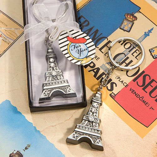 Love In Paris Collection Eiffel Tower Key Chain, - Key Collection Favors Chain