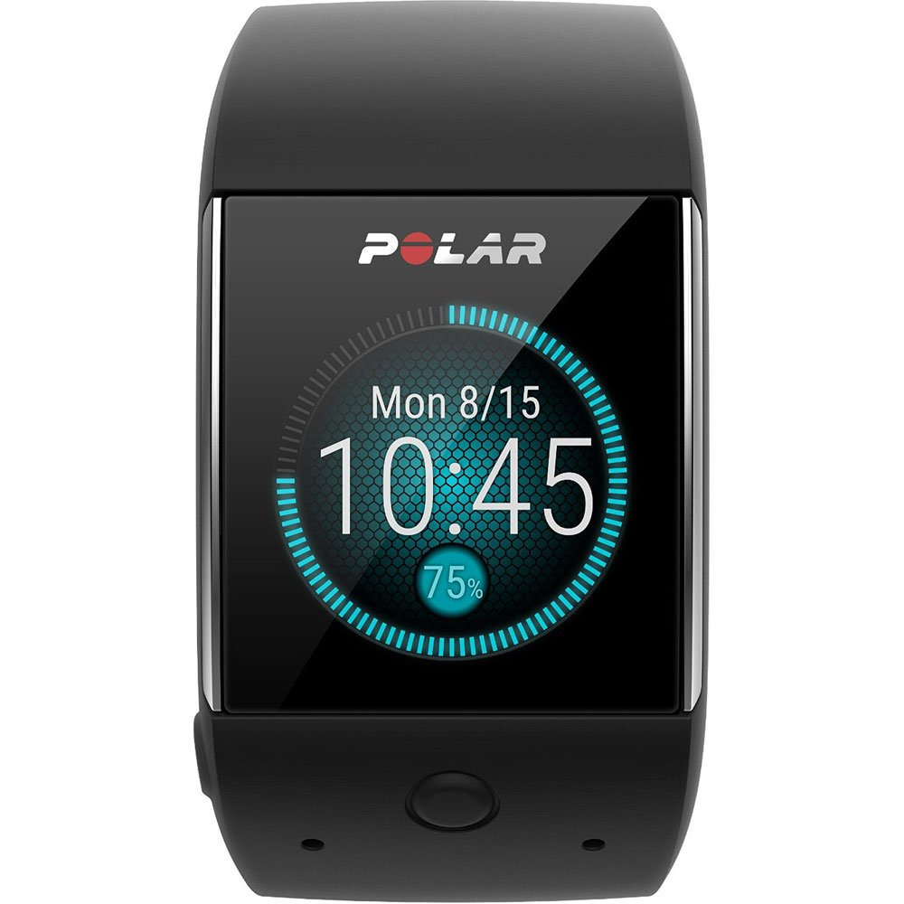 Polar M600 GPS Smart Watch with Heart Rate and Bag Fitness Kit - Black