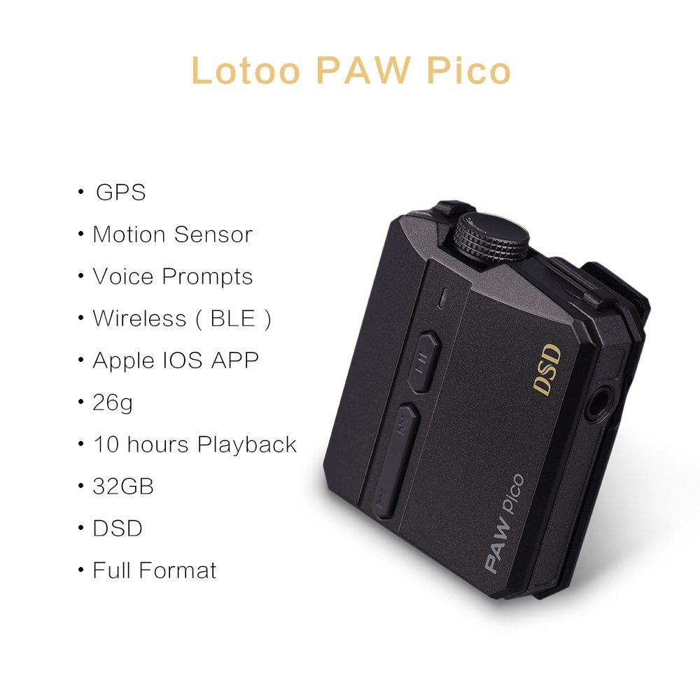Buy Cheap Lotoo Paw Pico Hi-fi Music Player Support Dsd 10 Hours Playback 32gb Mlc Flash Built-in Gps And Motion Sensor Voice Prompts Hifi Players