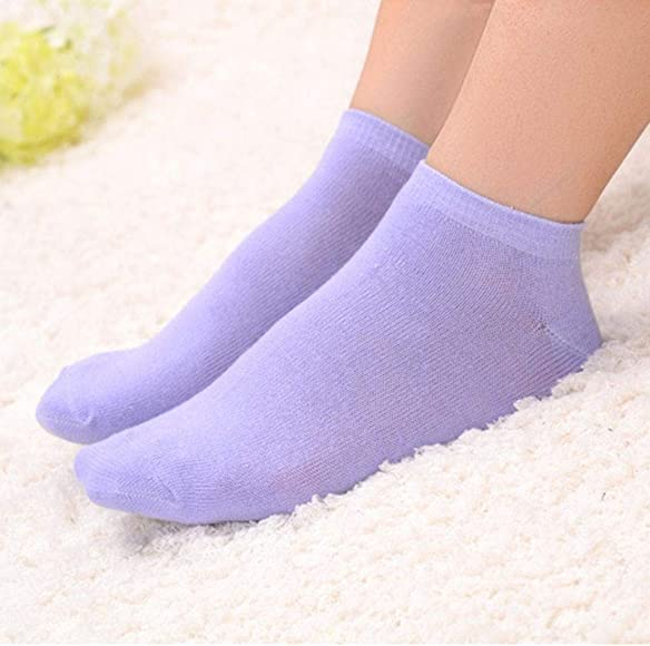 Hions Women Summer Cotton Polka Dot Love Heart Solid Socks Tights