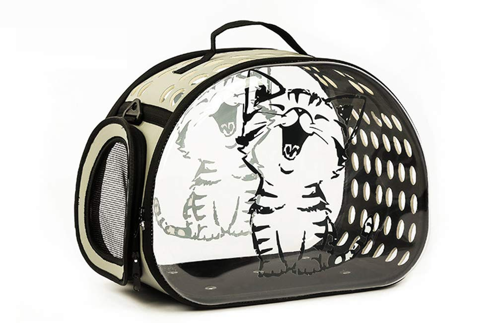 B 462633cm B 462633cm XYDDP Pet bag Breathable Comfortable Cat bag,Transparent hand mention Dog Cat cage easy to carry Pet travel bag