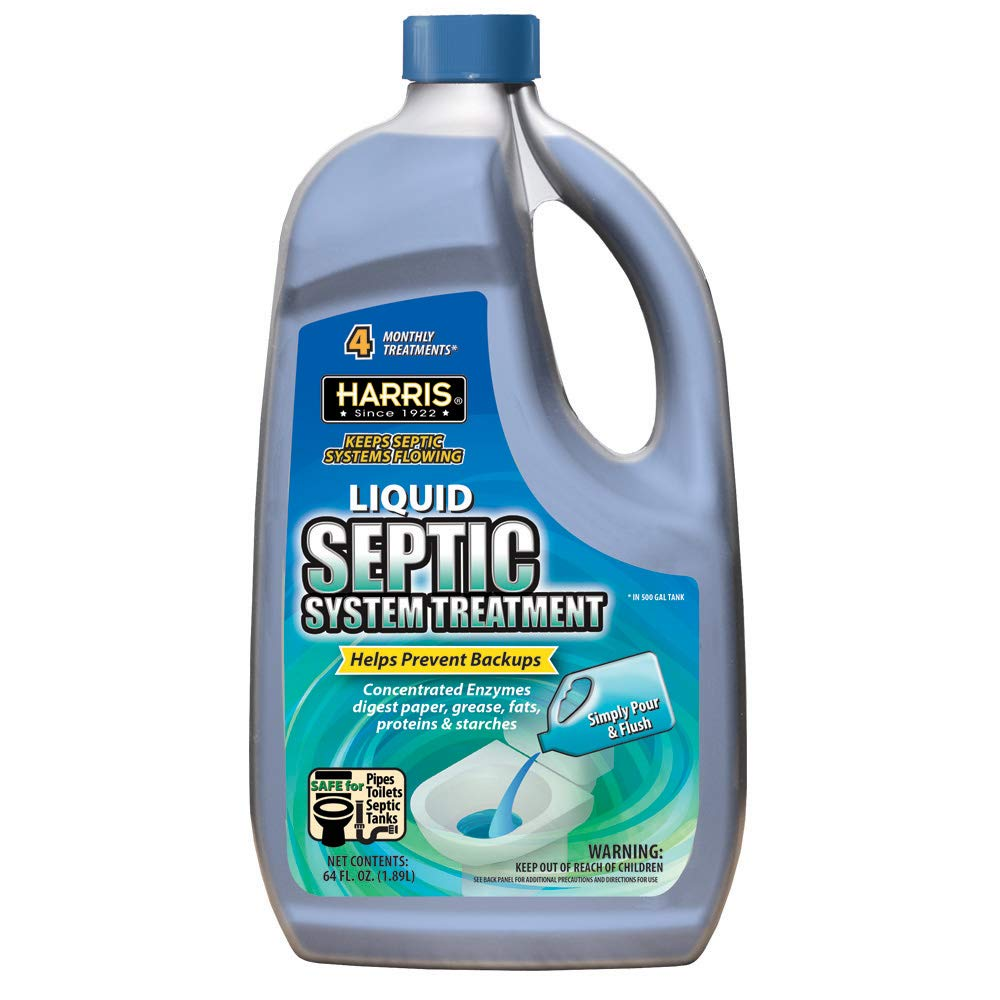 Harris Septic Tank Treatment, 64oz Liquid Enzymes