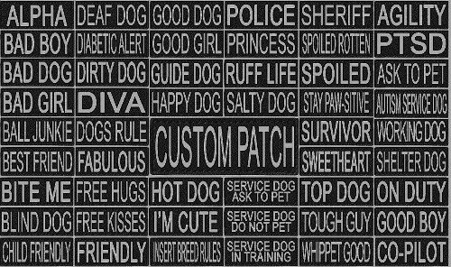 Dogline Custom 3M Reflective Personalized Removable Patch Label Tag for Dog Harness and Collar Agility Dock Diving Sport Dog Made in USA 1