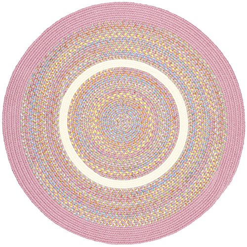 Kidding Pink Banded 4' Round from RRI Home Decor