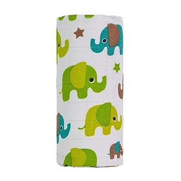 Toalla de bambú grande de elefantes TT4406, unisex, color verde, tamaño grande: Amazon.es: Juguetes y juegos