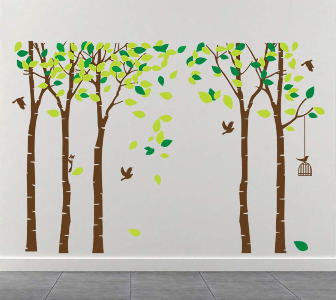 ANBER Giant Jungle Tree Wall Decal Removable Vinyl Sticker Mural Art Bedroom Nursery Baby Kids Rooms Wall D/écor