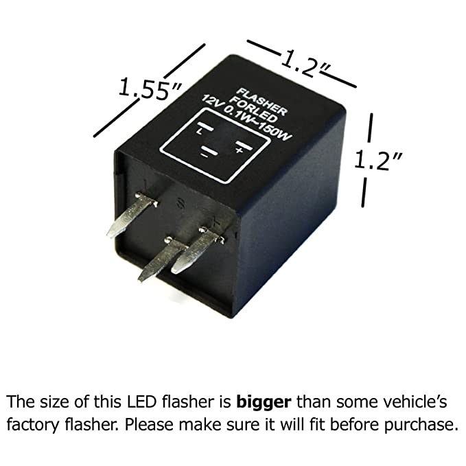 Amazon.com: iJDMTOY (1) 3-Pin EP28 Electronic LED Flasher Relay For ...
