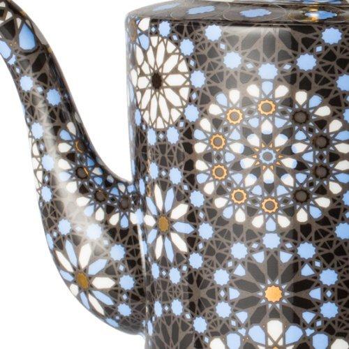 T2 Dazed and Dazzled Black Indigo - Fine Bone China TeaPot - 30.43oz by T2 Dazed and Dazzled Black Indigo - Fine Bone China TeaPot - 30.43oz