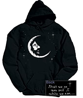 edf63d7fad2 Blue Mountain Dyes LLC Grateful Dead Hooded Sweatshirt Jerry Moon Hoodie  (Small) Black
