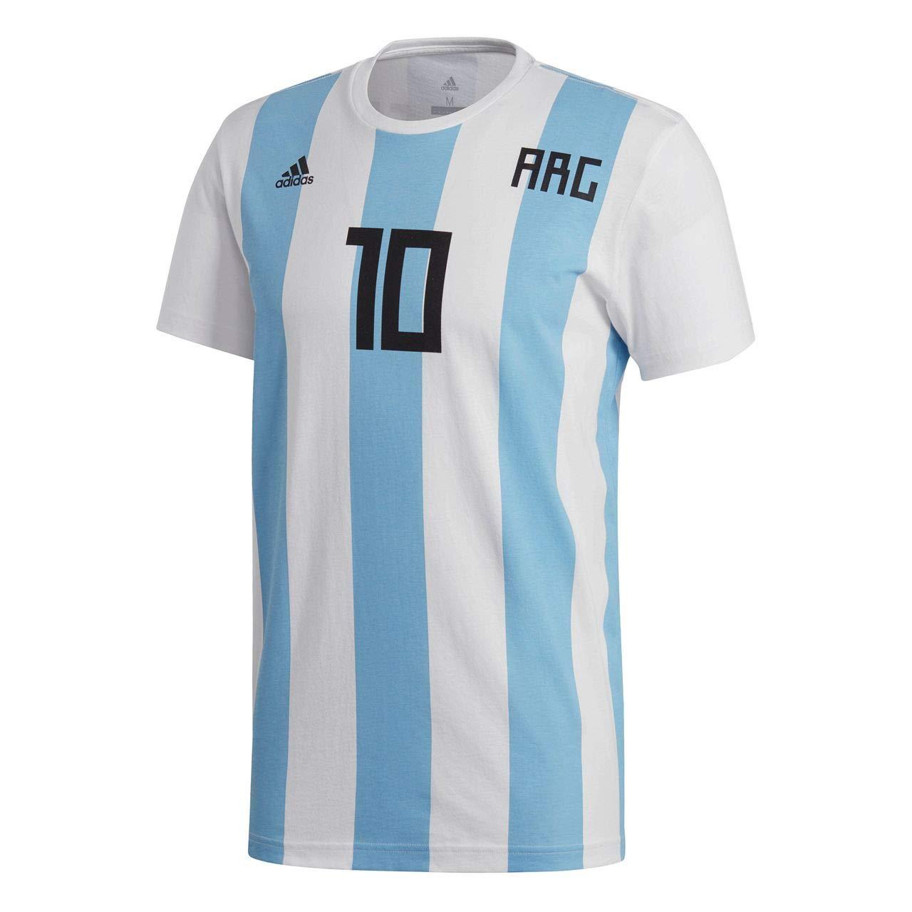 Adidas Messi Argentina 2017-2018, Camiseta, White: Amazon.es: Deportes y aire libre