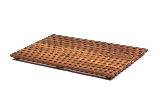asinox tek4a5070 caillebotis de douche bois marron 70 x 50 x 4 cm ... - Caillebotis Salle De Bain Bois