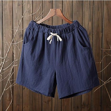 DKXLW Pantalones Cortos De Mujer,Navy Blue Verano Shorts Mujer ...