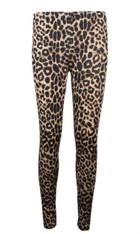 (womens leopard print jersey stretch leggings)(NIC) femmes jersey léopard pantalon jambières