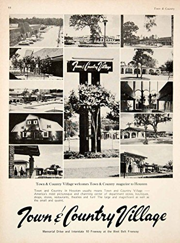 1969 Ad Town & Country Village Shopping Mall Memorial Drive Houston Texas YTC3 - Original Print - Shopping Houston Texas