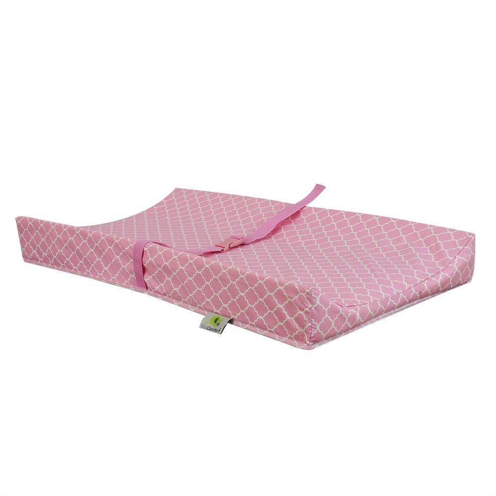 Kidiway 2106 Kidicomfort Geomatrical Changing Pad - Pink Quattrofoil