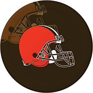 Creative Converting Officially Licensed NFL Dinner Paper Plates, 96-Count, Cleveland Browns