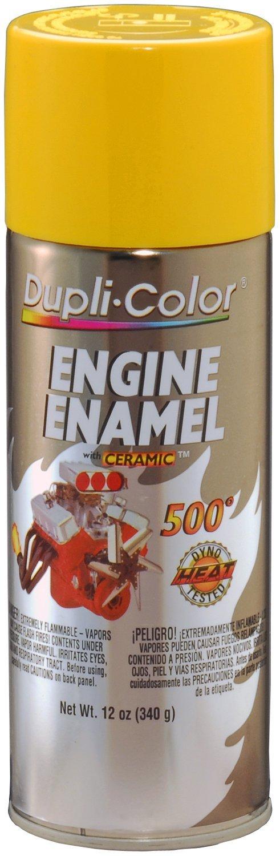 Dupli-Color EDE164207 Ceramic Daytona Yellow Engine Paint - 12 oz. by Dupli-Color