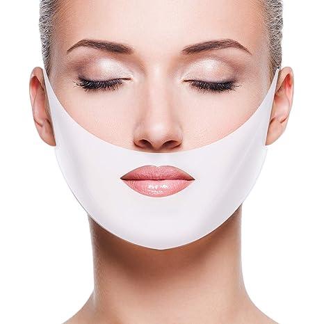 comtervi 5 pcs máscara facial V forma máscara soulever máscara Hydratant Raffermissant para Lifting Menton anti-vieillissement
