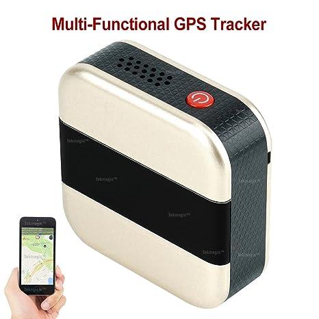 TEKMAGIC Localizador GPS Tracker Rastreador GPS Tarjeta SIM Dispositivo de Seguimiento de Espías Mini Localizador de