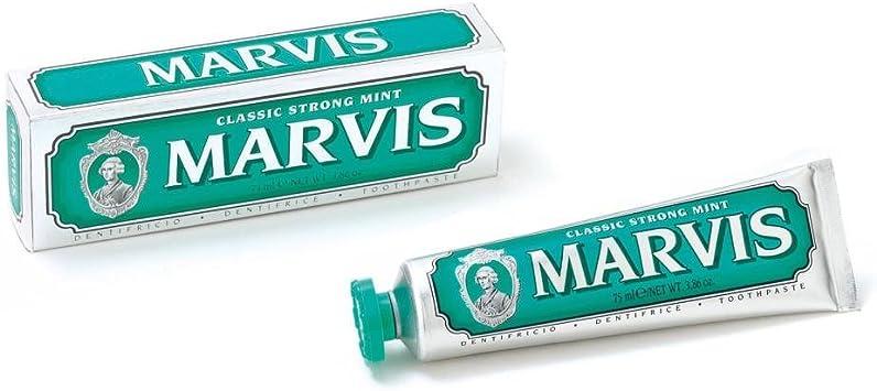 Marvis Pasta de dientes Classic Mint Strong, 2-pack (2 x 85 ml): Amazon.es: Salud y cuidado personal