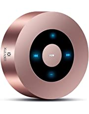 [LED Touch Design] Bluetooth Speaker, XLeader Portable Speaker with HD Sound / 12-Hour Playtime/Bluetooth 4.1 / Micro SD Support, for iPhone/ipad/Tablet/Laptop/Echo dot (Rose Gold)