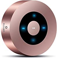 [LED Touch Design] Bluetooth Speaker, XLeader Portable Speaker with HD Sound / 12-Hour Playtime / Bluetooth 4.1 / Micro SD Support, for iphone/ipad/Tablet/Laptop/Echo dot (Rose gold)